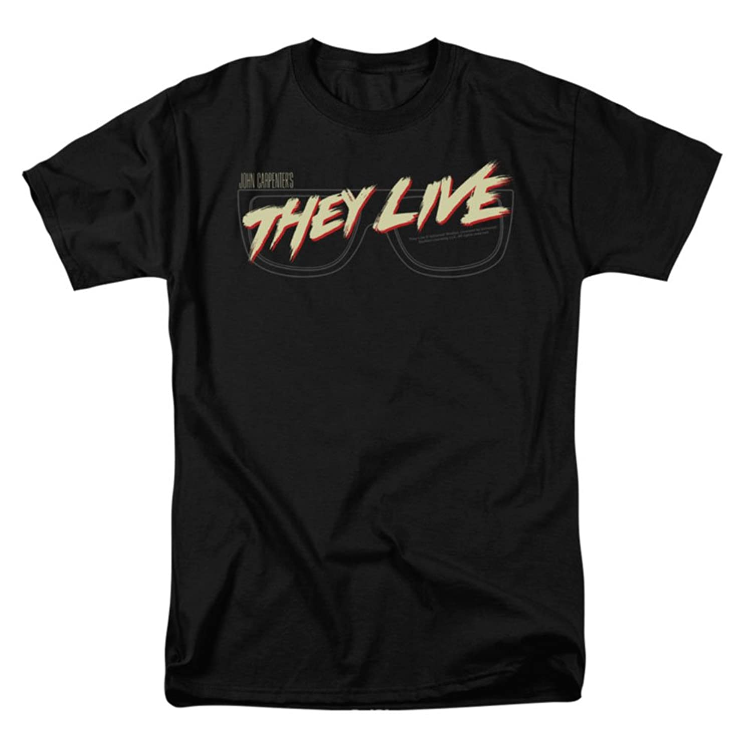 They Live Sci-Fi Horror Comedy Film Glasses Logo Adult T-Shirt Tee