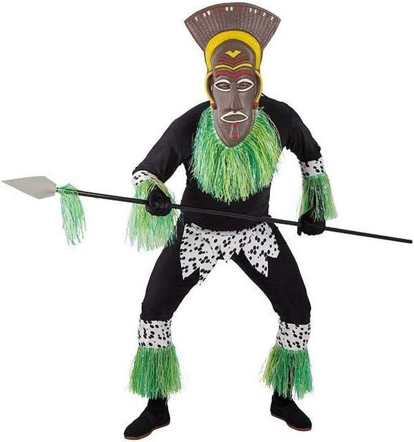 DISBACANAL Disfraz de Africano para Hombre - -, XL
