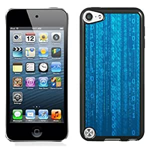 New Personalized Custom Designed For iPod Touch 5th Phone Case For Blue Binary Matrix Phone Case Cover