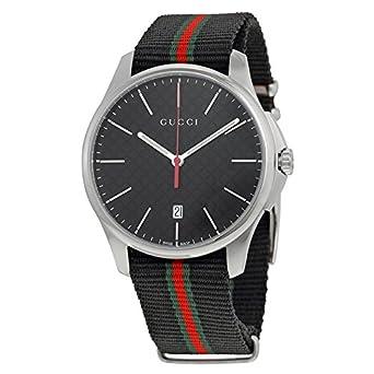 3654f28e364 Amazon.com  Gucci G-Timeless Analog Display Swiss Quartz Black Men s ...