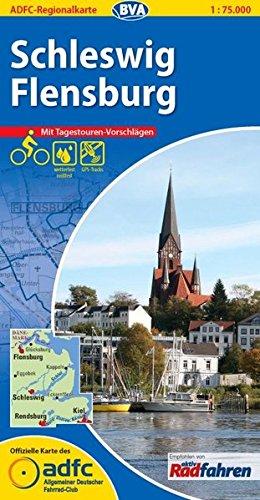 ADFC-Regionalkarte Schleswig Flensburg mit Tagestouren-Vorschlägen, 1:75.000, reiß- und wetterfest, GPS-Tracks Download (ADFC-Regionalkarte 1:75000)