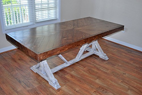 Amazon.com: Farmhouse table, rustic table, kitchen table ...