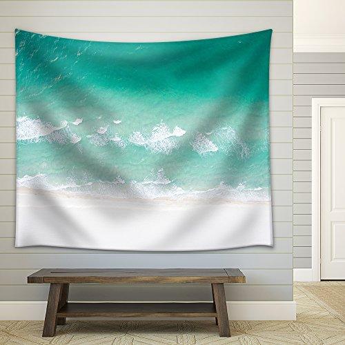 Crystal Clear Sea Waves Fabric Wall