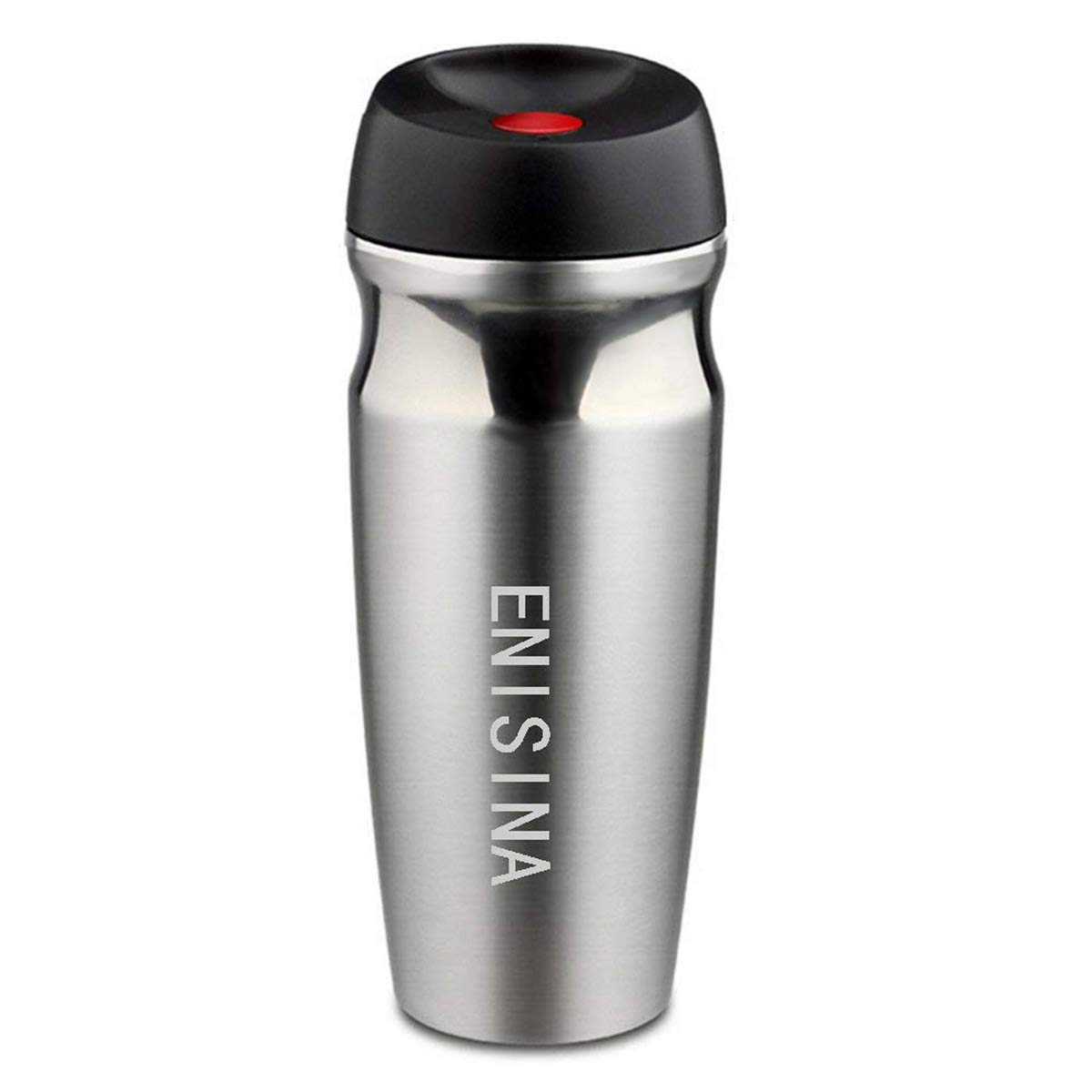 fa03d749607 Vacuum Travel Mug, One Hand Operated Thermal Mug, Coffee Mug Insulated, Travel  Mug Stainless Steel and Leakproof for Hot and Cold Drink (350 ML): ...