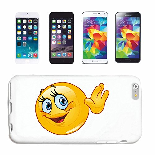 "cas de téléphone iPhone 5 / 5S ""FUNNY SMILEY THE WAVE ""sourire EMOTICON sa SMILEYS SMILIES ANDROID IPHONE EMOTICONS IOS APP"" Hard Case Cover Téléphone Covers Smart Cover pour Apple iPhone en blanc"