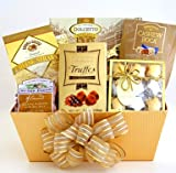 The Holiday Assortment Cookies, Cheese and Treats Christmas Gift Basket