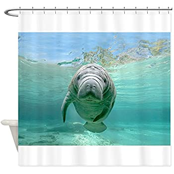 Superbe CafePress   Baby Manatee   Decorative Fabric Shower Curtain