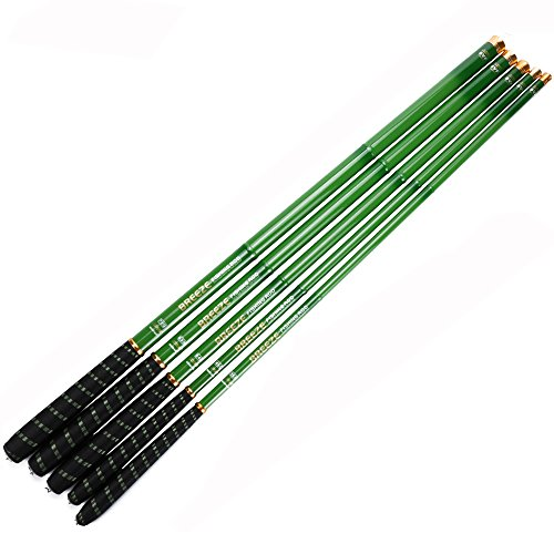 Cheap Goture 1 Piece Hard Carp Fishing Pole, Carbon Fiber Ultralight Telescopic Fishing Rod 10FT 12FT 15FT 18FT 21FT 24 FT+ Free Tip Set (Top 3 Segments)