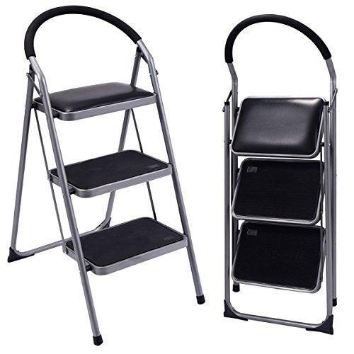 Ginatex Non-slip 3 Step Ladder Lightweight Folding Stool Platform Heavy Duty Industrial (3 Step) by Giantex (Image #1)
