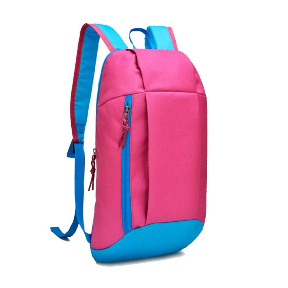 Tantisy ♣↭♣ Backpack Men Women UnisexTrunk Shape Canvas Lightweight Packable Durable Travel Hiking Daypack Hot Pink by Tantisy ♣↭♣ (Image #2)