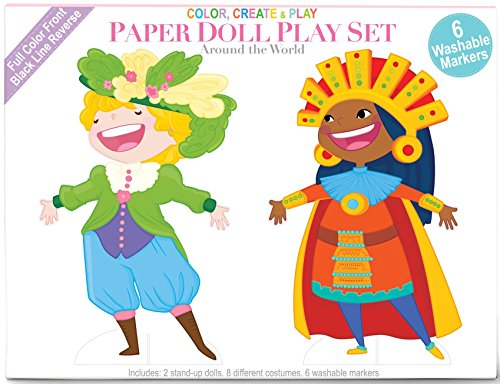 World Paper Dolls (The Piggy Story Dolls of the World Paper Doll Coloring and Play Set with Markers)