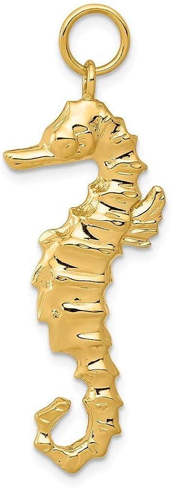 JewelryWeb 14 Carats Pendentif hippocampe