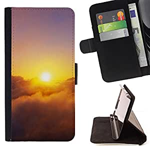 BullDog Case - FOR/Samsung Galaxy Note 3 III / - / Sunset Beautiful Nature 28 /- Monedero de cuero de la PU Llevar cubierta de la caja con el ID Credit Card Slots Flip funda de cuer