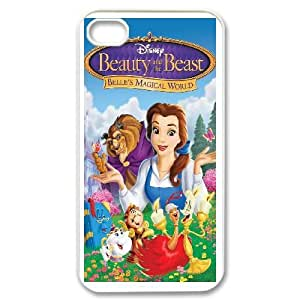 iPhone 4,4S Phone Case White Beauty and the Beast The Enchanted Christmas MN6620995