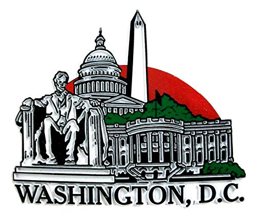 Washington D.C. United States 4 Color Collage Fridge - Magnet Collage