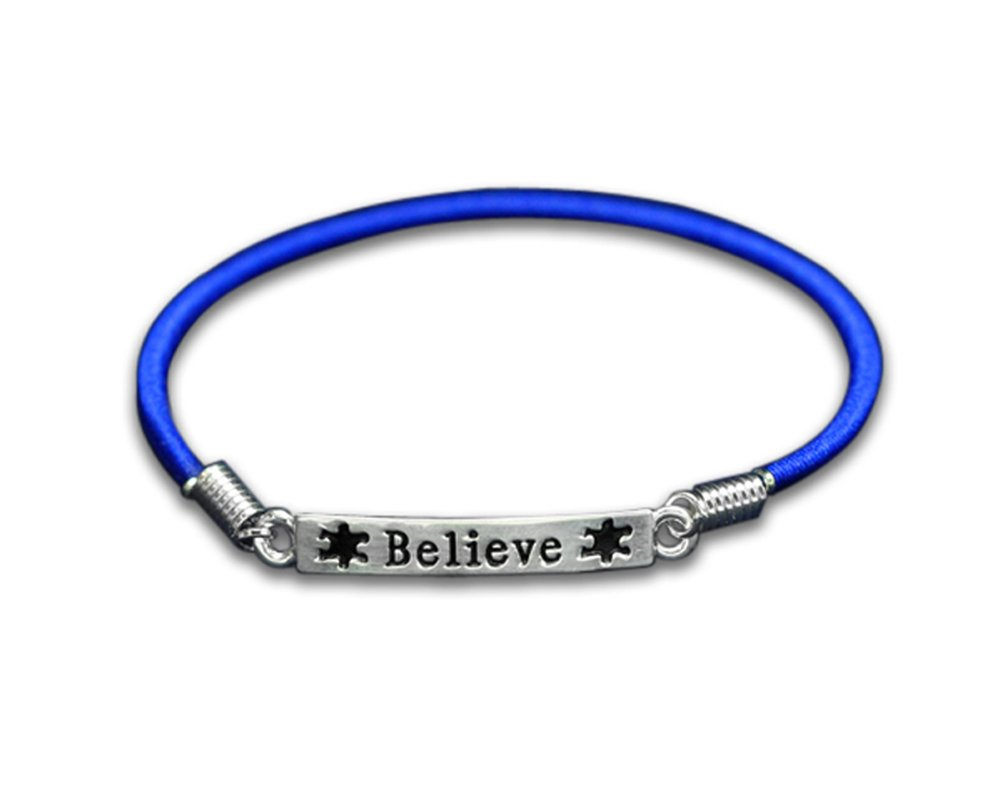 Fundraising For A Cause 25 Autism Believe Stretch Bracelets Individually Bagged (25 Autism Bracelets)