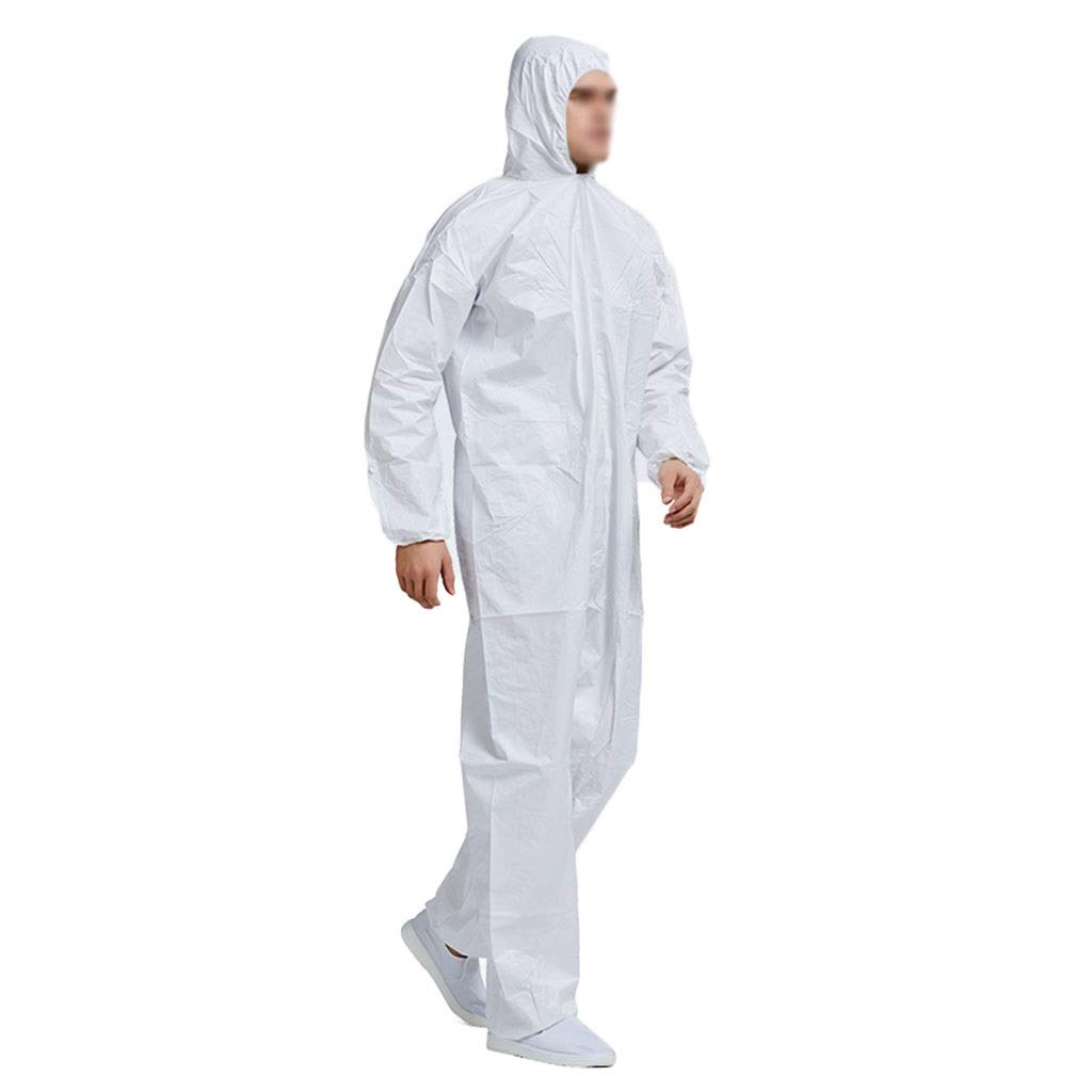 YYTL Disposable Coveralls,tyvek Suit Large, One-Piece Dustproof Suit, Isolation Suit, Suitable for Painting and Dustproof Work, 3 Pieces (Size : XXXL) by YYTL