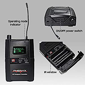 Phenyx Pro UHF Stereo Wireless In Ear Monitor...