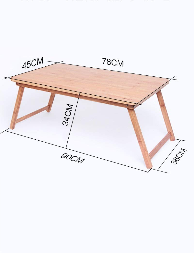 GUI Table-Bamboo Foldable Laptop Tables Bed Small Desk Learning Desk,XX-Large