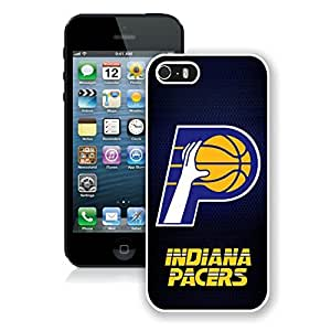 New Custom Design Cover Case For iPhone 5s Generation Indiana Pacers 5 White Phone Case