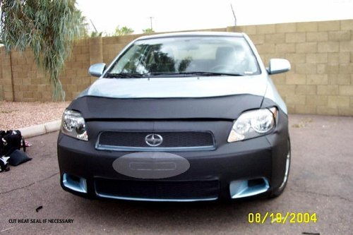 Lebra 2 piece Front End Cover Black - Car Mask Bra - Fits - SCION,TC,,,2005 thru 2010 (Scion Tc Hood)