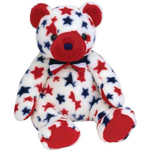 Patriotic Teddy Bears (Ty Beanie Buddies Red - Bear)