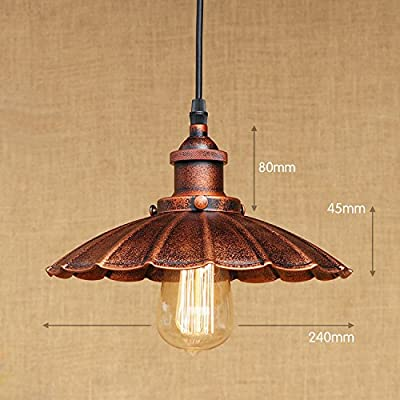 Create for Life 1-Light Pendant Light Retro Vintage Industrial Pendant light Country Style Mini Chandelier for Bars ?24cm