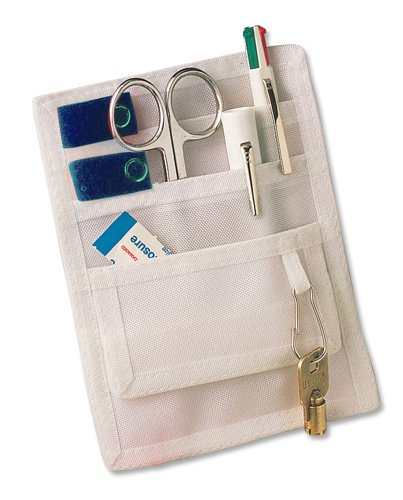 ADC 216 Pocket Pal II Medical Instrument Organizer/Pocket Protector, White with Royal Blue Accents