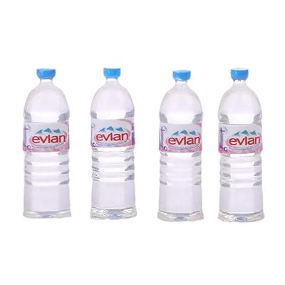 Xuniu 4 Unidades Juego de Botellas de Agua Juguetes de Casa de Muñecas Miniatura Accesorios de Bebida para Niños Regalo de Niños # 3: Hogar