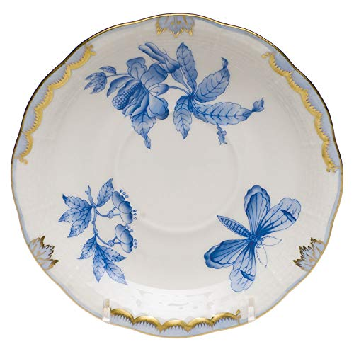 Herend Fortuna Blue Porcelain Tea Saucer