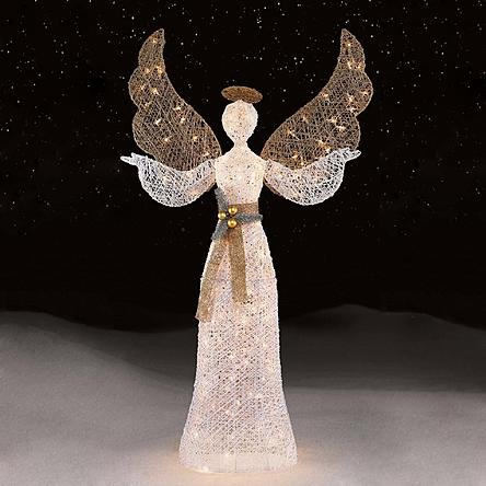 56 in. White Angel Christmas Decor | Perfect Home Holiday Indoor / Outdoor Decoration by the Porch