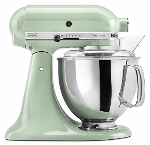KitchenAid KSM150PSPT Artisan Series 5-Qt. Stand Mixer with Pouring Shield - Pistachio (Mixer Shield Pouring)