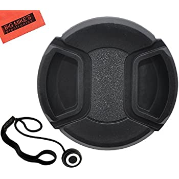67mm Universal Snap-On Lens Cap For Canon EF-S 18-135mm f/3.5-5.6 IS Standard Zoom Lens + Cap Keeper + MicroFiber Cleaning Cloth