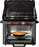 Camp Chef Deluxe Outdoor Camp Oven - Stainless Steel, Insulated Oven Box, Matchless Ignition - Charcoal Gray (COVEND)