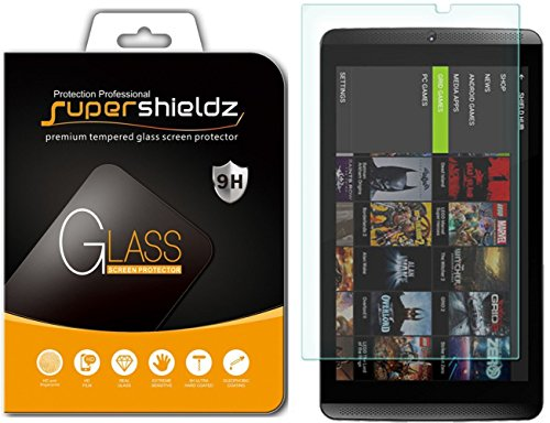 Supershieldz for NVIDIA Shield Tablet/Tablet K1 Tempered Glass Screen Protector, Anti-Scratch, Anti-Fingerprint, Bubble Free, Lifetime Replacement Warranty