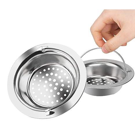 Amazon.com: Fregadero colador 2pcs escurridor lavabo ...
