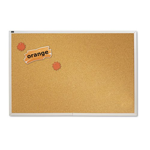 Quartet Natural Cork Bulletin Board, 4-Feet x 6-Feet, Aluminum Frame (ECKA406)