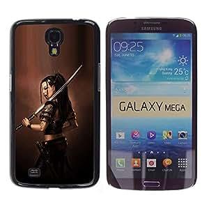 LECELL--Funda protectora / Cubierta / Piel For Samsung Galaxy Mega 6.3 -- ASIÁTICO diosa guerrera --