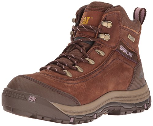 Caterpillar Women's Ally 6'' Waterproof Industrial and Construction Shoe, Brown, 9 M US by Caterpillar