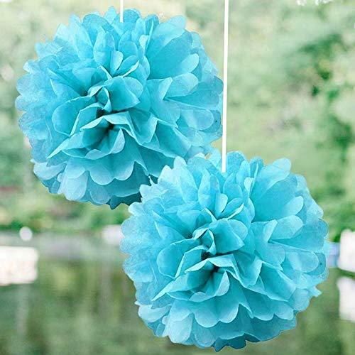 Mikash 12 pcs 6 POM POM Balls Wedding Party Centerpieces Decorations Wholesale | Model WDDNGDCRTN - 6710 | ()