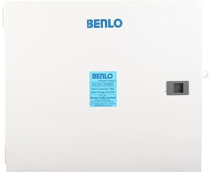 BENLO Metal 100 Ampere 415 Volts Bus Bar Chamber (White