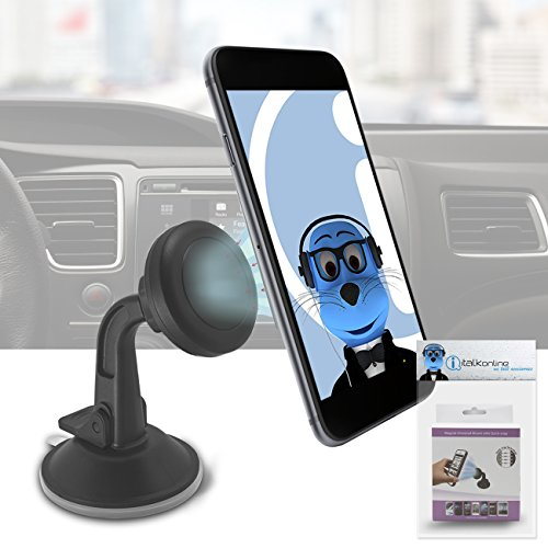 Magnetic Cradle-less Case Compatible Car Mount Holder Windsh