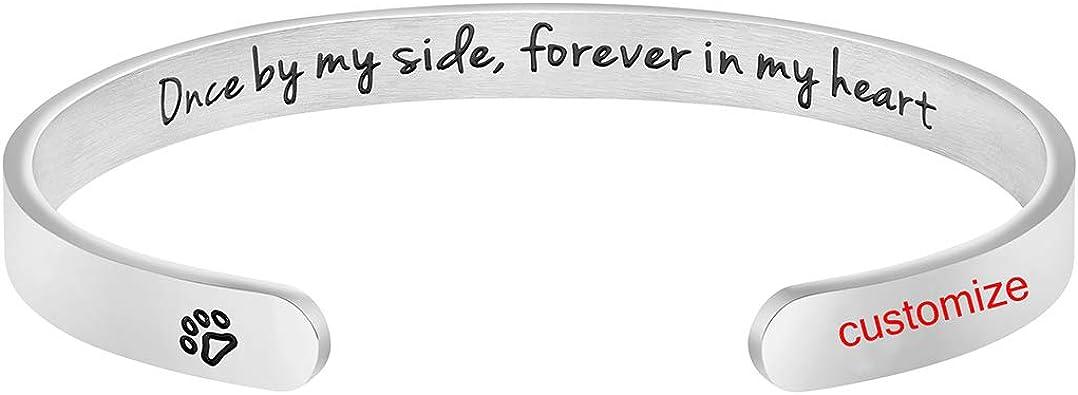 Loss of Dog Dog Memorial Gift Memorial Bangle In memory of dog Pet Loss Gift Pet Memorial Custom Memorial Jewelry Rainbow Bridge