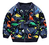 HARVEY JIA Boy's Windproof Packable Jacket Lightweight Animal Cute Coat 5T