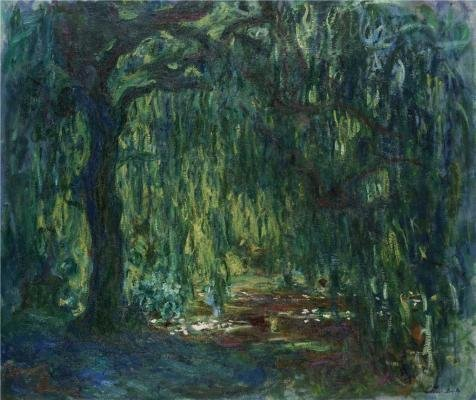 Oil Painting 'Claude Monet,Weeping Willow, 1918-1919', 12 x 14 inch / 30 x 36 cm , on High Definition HD canvas prints is for Gifts And Bath Room, Home Office - Target Niles Hours
