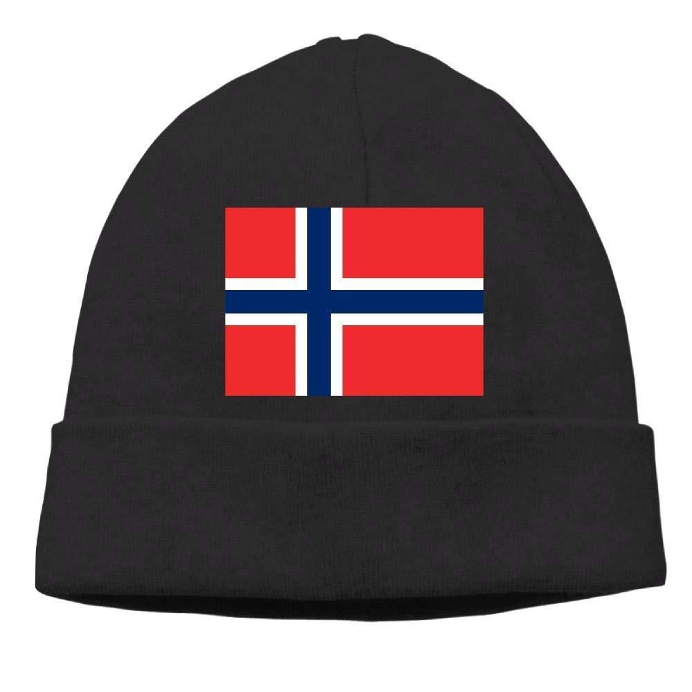 lsrIYzy Men/Women Norwegian Flag Outdoor Warm Beanies Hat Soft Winter Knit Caps