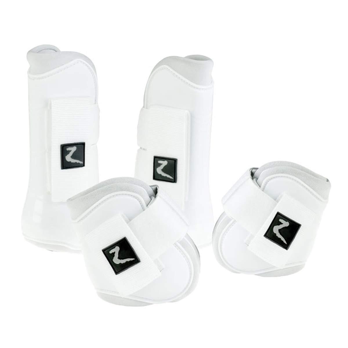 Horze Advanced ProTec Boot Set - White - Full