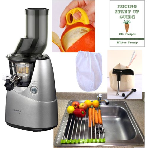 Kuvings Whole Slow Juicer Combo Pack 3 + Folding Drain Rack + Nut Milk Bag + Juicing eBook ...