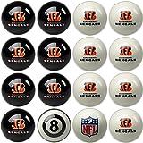 Imperial Officially Licensed NFL Merchandise: Home vs. Away Billiard/Pool Balls, Complete 16 Ball Set, Cincinnati Bengals
