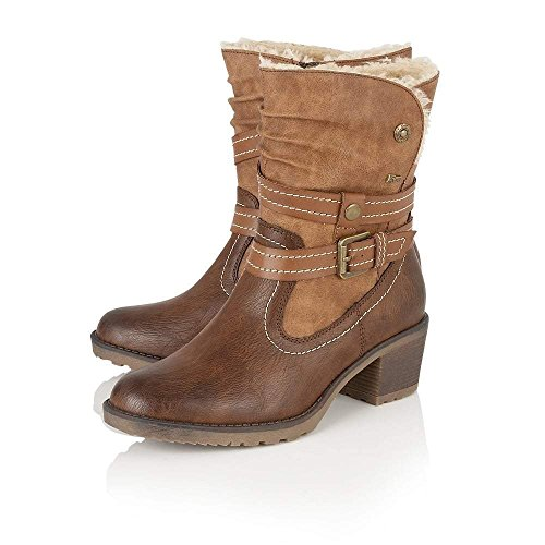 Lotus Relife Mallory Brown Ladies Mid Calf Boots
